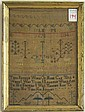 EARLY EMBROIDERED SAMPLER, dated April 1767 with