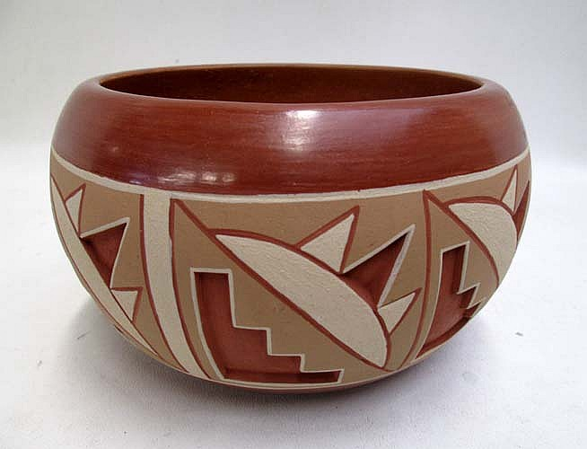 ROSITA DE HERRERA REDWARE BOWL having raised