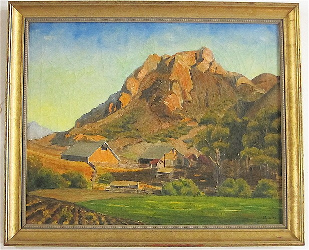 ELGIN OIL ON CANVAS (American, 20th century) Arid