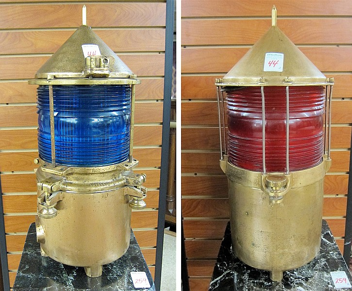 TWO NAUTICAL CHANNEL MARKER LIGHTS, similar
