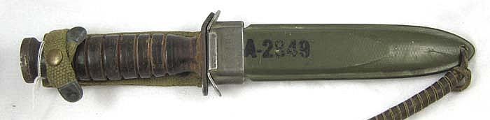 WORLD WAR TWO UTICA MODEL M3 FIGHTING KNIFE, eight