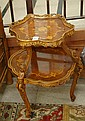 LOUIS XV STYLE TWO-TIER INLAID TABLE, American,