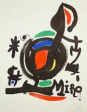 JOAN MIRO COLOR LITHOGRAPH (Spain/France, 1893-198