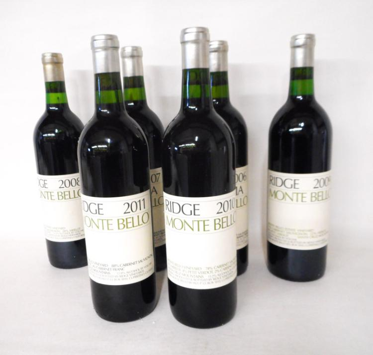FIFTEEN BOTTLES OF VINTAGE CALIFORNIA RED WINE, Ri