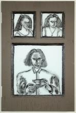 GREGORY GRENON INK DRAWING ON GLASS (Washington, 2
