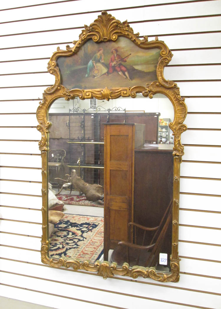 FRENCH STYLE TRUMEAU WALL MIRROR, American, mid- 2