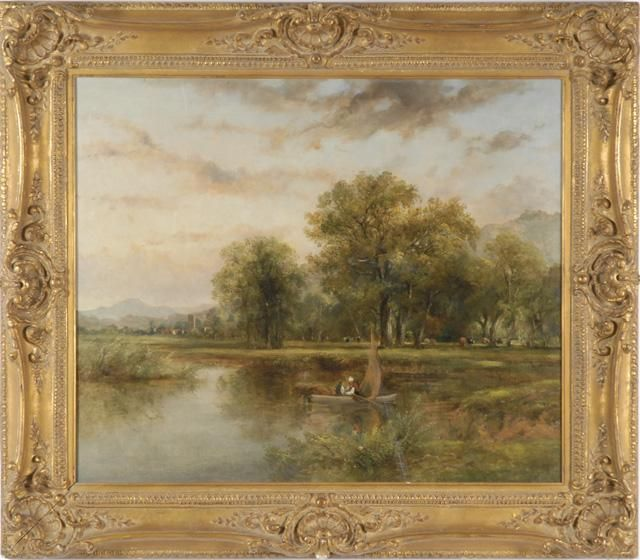 ATTRIBUTED TO FREDERICK WATERS WATTS OIL ON CANVAS