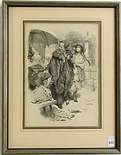 FRANZ XAVER SIMM INK AND WASH ON PAPER (Austria, 1