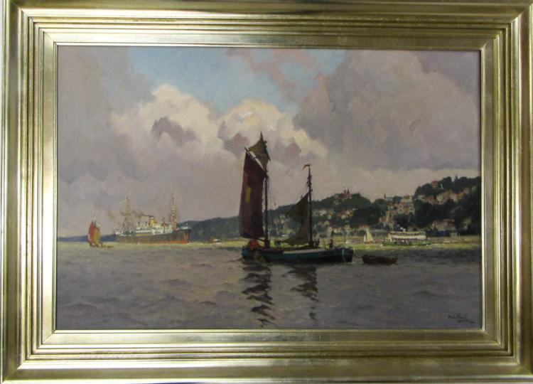 ADOLPH MUHLHAN OIL ON CANVAS (Hamburg, German, 188