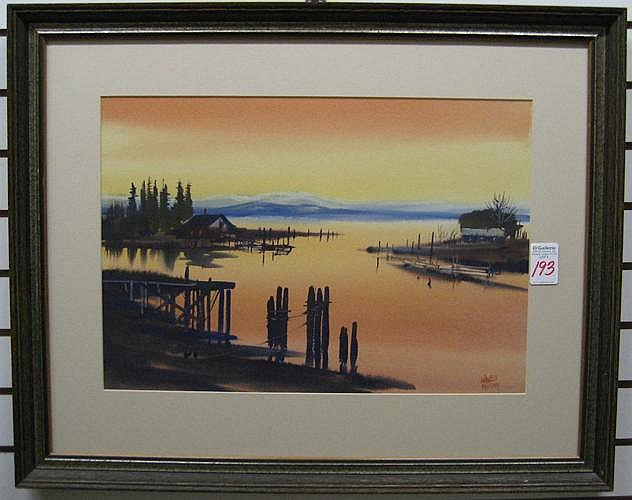 CHARLES MULVEY watercolor on paper (Oregon City,