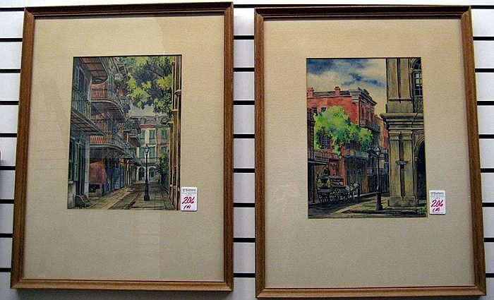 EUGENE E. LOVING two watercolors on paper (New
