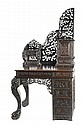 CARVED ROSEWOOD WRITING DESK, Chinese export, late