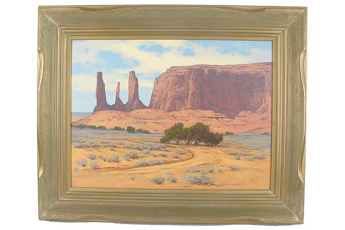 ROBERT L. KNUDSON OIL ON MASONITE (Arizona, born