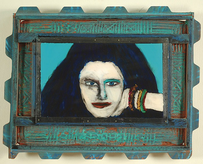 GREGORY GRENON OIL ON PLEXIGLASS AND WOOD
