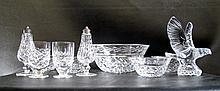 TEN PIECES WATERFORD CRYSTAL consisting of 9