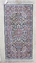 SILK AREA RUG, Persian floral and central floral