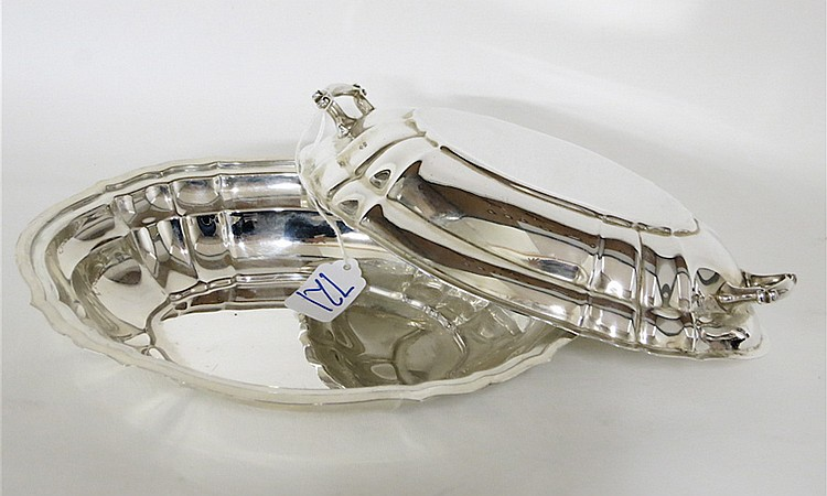 """GORHAM """"CHIPPENDALE"""" STERLING SILVER COVERED VEGET"""