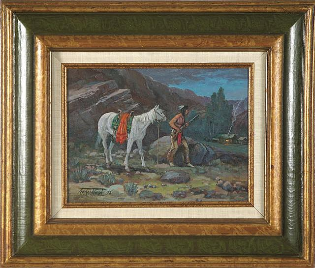 FRED OLDFIELD OIL ON CANVAS (Born 1918 in Alfalfa,