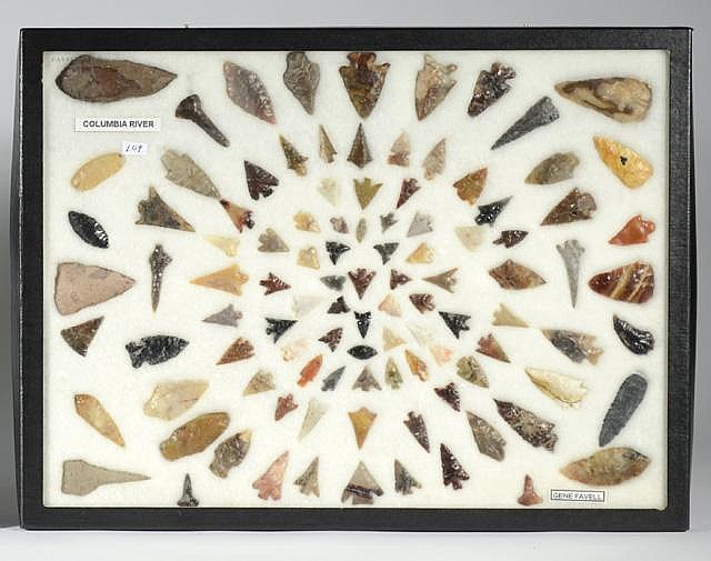 NATIVE AMERICAN COLLECTION OF GEM HUNTING POINTS