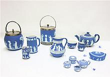 THIRTEEN PIECE WEDGWOOD JASPERWARE, all having