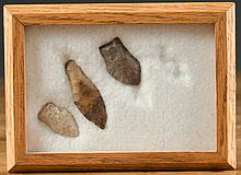 THREE NORTHWEST NATIVE AMERICAN POINTS/DARTS,