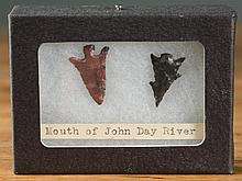 TWO NORTHWEST NATIVE AMERICAN ARROW HEADS, the