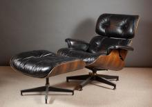 EAMES 670-671 ROSEWOOD LOUNGE CHAIR AND OTTOMAN, C