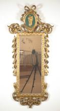 FEDERAL GILTWOOD AND GESSO WALL MIRROR, c. 1790-18