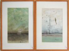 TYSON GRUMM, TWO MIXED MEDIAS ON PAPER (Oregon/Was