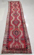 PERSIAN TRIBAL RUNNER, repeating geometric medalli
