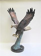 PATINATED BRONZE WILDLIFE SCULPTURE, an American