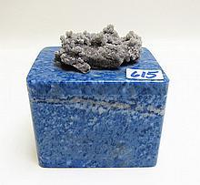 RUSSIAN LAPIS LAZULI BOX, rectangular form with
