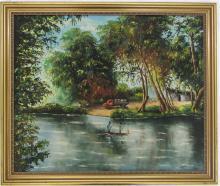 SAMBA PHILIPPE OIL ON BOARD (Haitian, 20th century