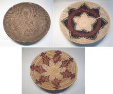 THREE SOUTHWEST NATIVE AMERICAN BASKETS, all are h