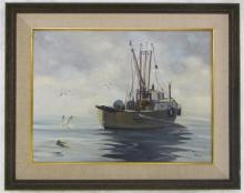 NORMAN KELLY OIL ON BOARD (Canada, born 1939) Traw
