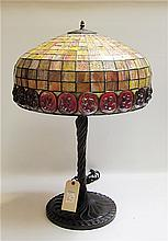 TIFFANY INSPIRED TABLE LAMP, featuring a leaded