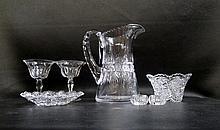 CUT CRYSTAL TABLEWARE & STEMWARE, seventeen pieces
