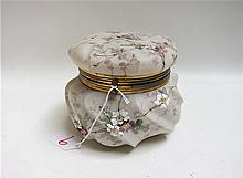 WAVECREST GLASS DRESSER BOX with hand enameled