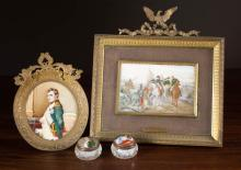 NAPOLEONIC COLLECTIBLES:  two miniature paintings