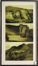 JAMES LAVADOUR OIL ON PAPER TRIPTYCH (Oregon, born