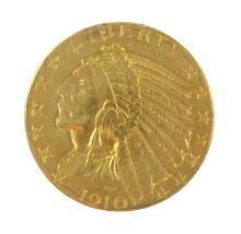 U.S. FIVE DOLLAR GOLD COIN, Indian head variety, 1