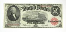 LARGE SIZE TWO DOLLAR UNITED STATES NOTE, FR#60, s