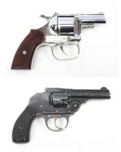 TWO .32 S&W CALIBER REVOLVERS:  the first a Iver