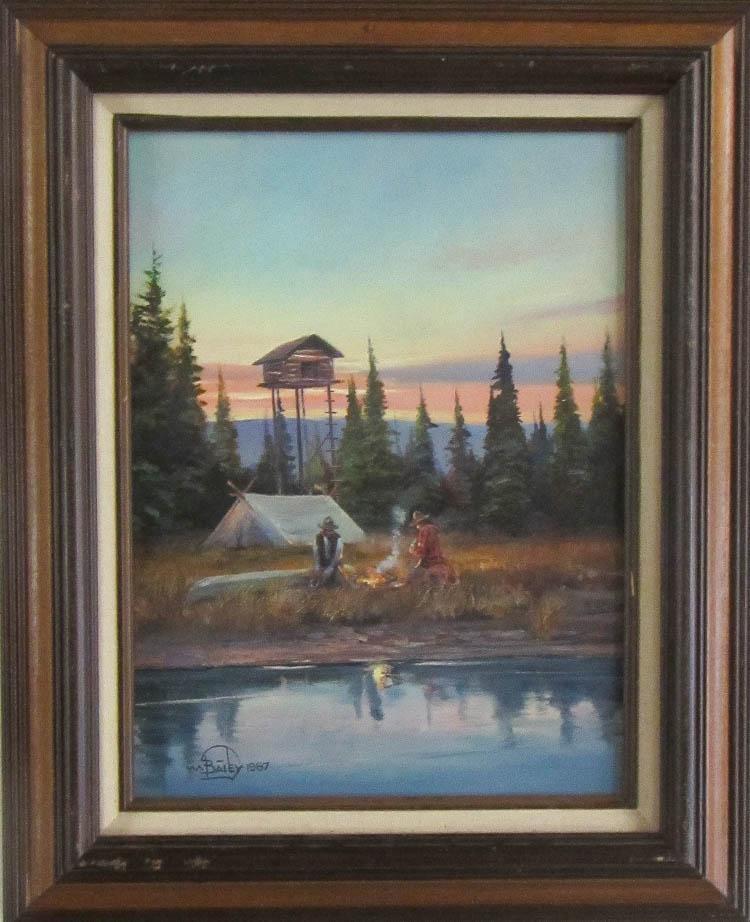 WILLIAM BAILEY OIL ON BOARD (Montana/Washington/Ma