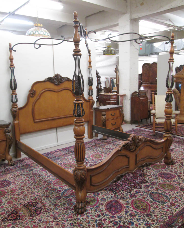 Five piece baroque style bedroom furniture set l for Furniture 4 a lot less