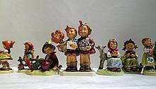 FIFTEEN HUMMEL FIGURINES with date marks from 1972