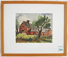 GEORGE PICKEN WATERCOLOR (New York/Massachusetts,