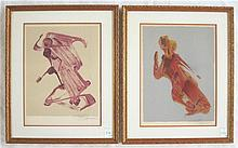 DAVID ALFARO SIQUEIROS, TWO COLOR LITHOGRAPHS