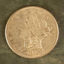 U.S. TWENTY DOLLAR (DOUBLE EAGLE) GOLD COIN, Liber
