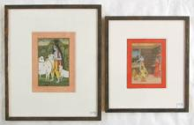 AJAY GARG, TWO GOUACHES ON PAPER (India, born 1967